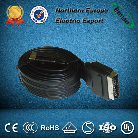 NEW 21 pin scart cable with plug