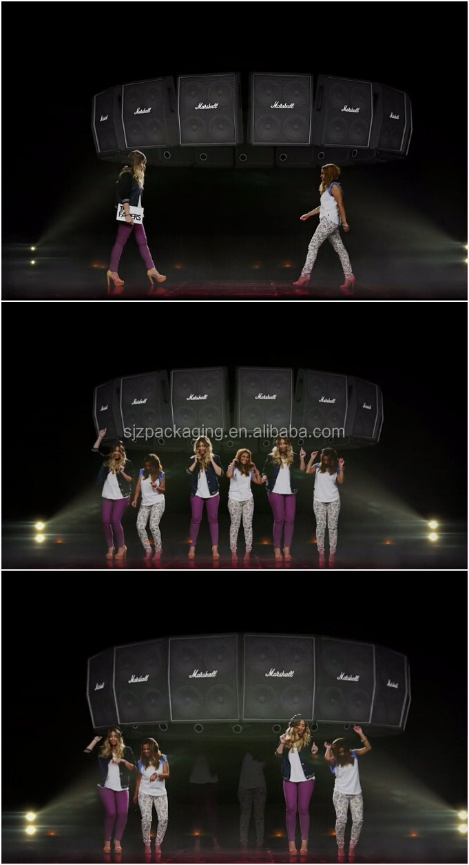 3d holographic projection rear screen film for large stage