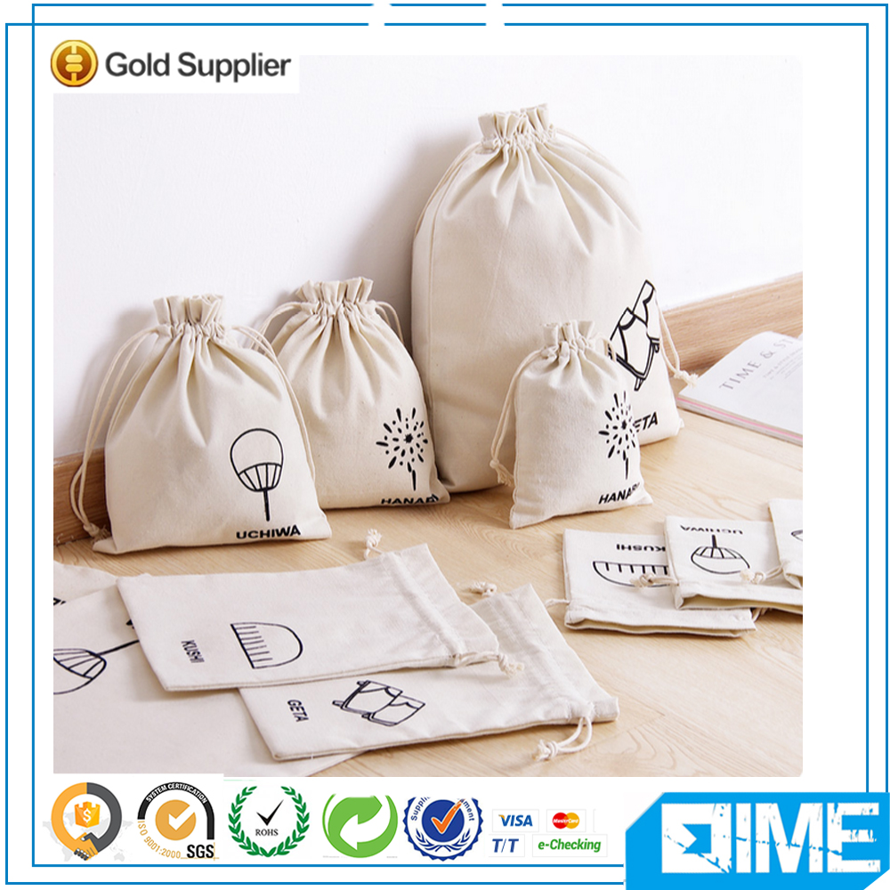 Light White Drawstring Tote Bags Used in Storehouse