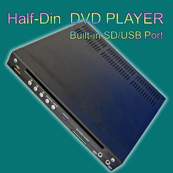 Car Half DIN DVD Player with DIVX/MP3/CD/DVD USB/SD Slot In-Dash CAR 1/2 DIN DVD
