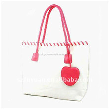 2016 New design factory OEM lady canvas tote bag woman fashion handbag