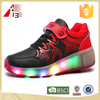 led flashing light up wheels shoes for kids