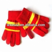 Lint Winter Cotton skin color neon magic gloves knitted hot sale