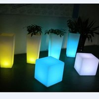Christmas Day led flower pot / led vase /illuminated vase