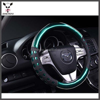 beautiful colorful car steering wheel cover car accessories made in china for ladies and girls