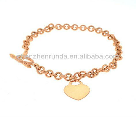 Charms Metal Wholesale Beverly Hills Rose Gold Heart 7.5-inch Bracelet Vners