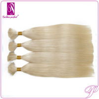 Golden russian Human Hair Bulk, Good Prices bulk hair for wig making, Wholesale Russian Virgin Hair