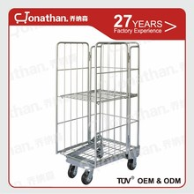 Foldable nestable logistics steel industrial transport roll cage