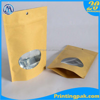 Recyclable and Biodegradable brown paper Window Bags for cookies, bread etc bakery foods - Grease Resistant
