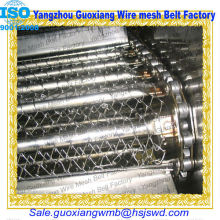 chain link spiral conveyor belt