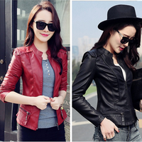 W92247A 2016 new fashion women leather jacket ladies leather jacket