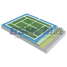 Guangzhou ITF Certificate SPU Synthetic Tennis Court Surface Sports Liquid Coating Material Flooring Price