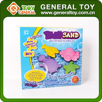 2015 New Toys For Kids 3 Color 681g DIY Sand With Sea Animal Mold