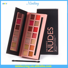 14 Colors Matte Glitter Naked Makeup private label Eyeshadow Palette wholesale