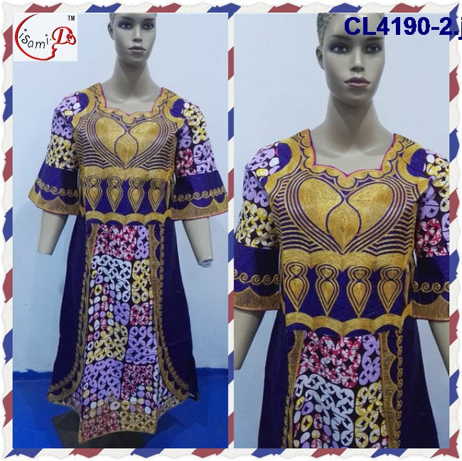 New Design Fashionable Traditional Dress African Bazin Riche Clothing Embroidery CL4190