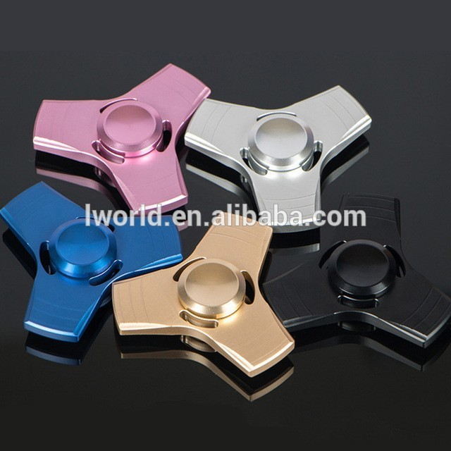 Metal aluminum low voice hand spinner tri fidget spinner with high speed long time spin finger spinner