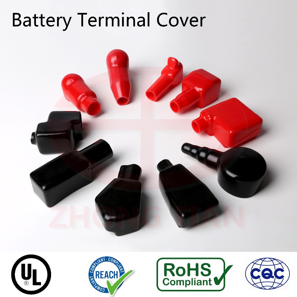 Plastic PVC Battery Terminal Protective Cover Cap Boot with ISO 9001 UL RoHS REACH certifications