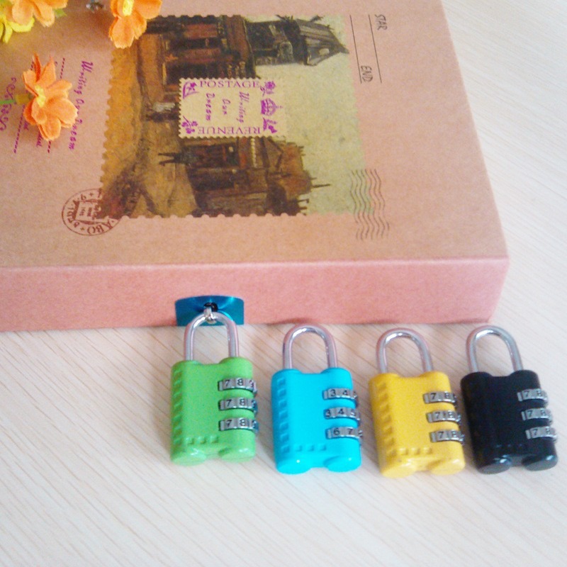 CH-24H colorful high security 3 digits suitcase padlock combination lock