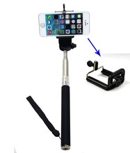 2 in 1 Extendable Handheld Monopod for Compact Camera + Adjustable Smartphone For iPhone 4/4S/5/5S/5C Samsung Galaxy S4 i9500 S3