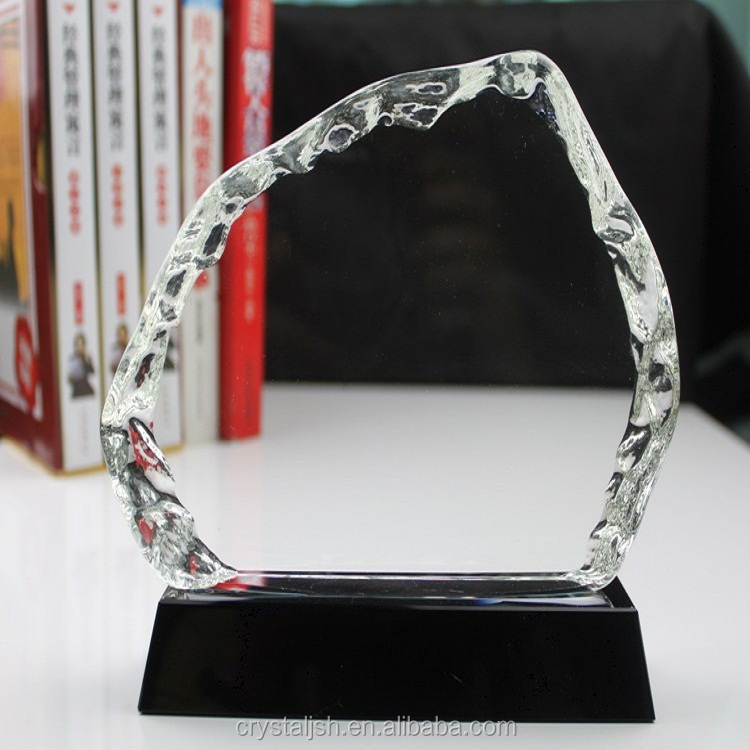 Wholesale 3D laser Engraving blank k9 crystal iceberg trophy Craft