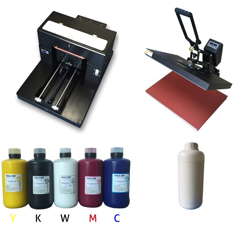 A3 desktop flatbed printer multifunctional for printing pen, glass, metal, pvc card, t-shirt, phone cases