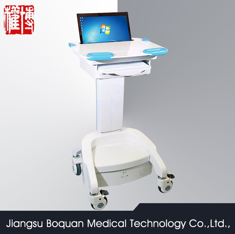 four wheels for hospital with CE & ISO hospital laptop computer laptop trolley