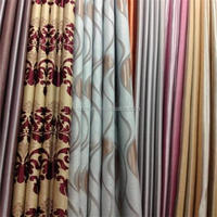 Printed satin for curtain