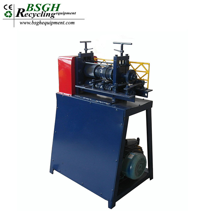 Low loss waste copper wire stripper machine with high adaptability armored cable peeling machine