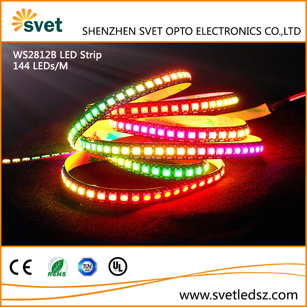 DC5V 5050 WS2812B RGB LED Strip 144LEDs/M Digital LED Strip RGB Waterproof Individually Addressable IP67