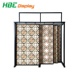 Sliding Ceramic Tiles Display Rack Trade Show Display Stand