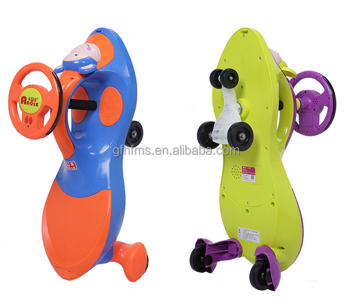 China Manufacturer 100% PP Newest Type Kids Toy Ride On Swing Car