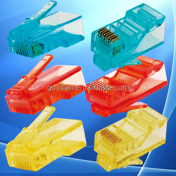 OEM Colorful Cat5e Cat6 Cat7 UTP FTP RJ45 8p8c/6p4c/4p4c network Crystal Head patch cord