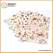 flower pattern printed polyester felt in different color