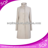high collar european style elegant long military jackets coat made in china