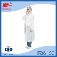 plastic rain poncho pattern waterproof fabric disposable pvc raincoat