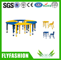 SF-18C Classroom Lab Desk Kindergarten Furniture Kids Combination Table and Chairs Plastic Height Adjustable