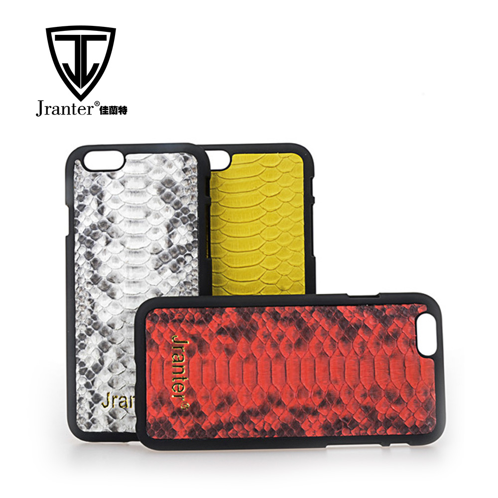 Premium Leather Phone Case Luxury Real Python Skin Cell Phone Cover