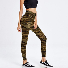 usa hot sexy girls picture print camouflage fabric cotton ladies leggings