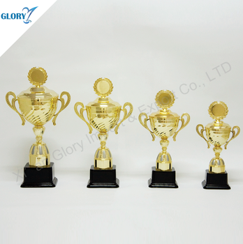 The Popular Cover Plastic Metal Cup Trophies Of Award
