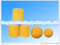 DN125 Medium Soft Concrete Pump Cleaning Ball Rubber Ball / Cylinder