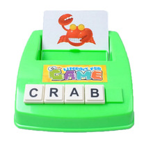 Literacy Fun Game Learn English Word Puzzle Children' s Toy