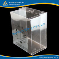 Clear blister PET/PVC plastic laminated material toy packaging box