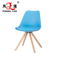 Modern Low Price Wood Leg Pu Seat White Plastic Dining Chair And Table for living room