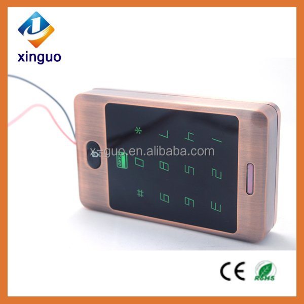 Waterproof card reader door keyless entry system