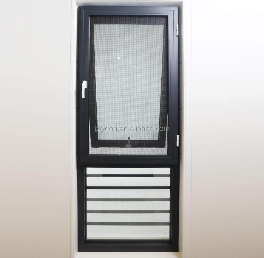 Thermal Insulation System Aluminum Double Glazed Awning Casement Swing Sash Window Factory