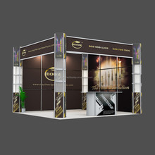 3x3 exhibition event booth Custom easy to assemble portable modular trade show display booth design with graphics