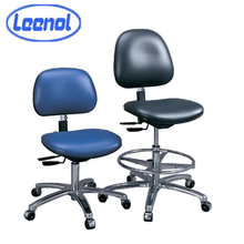 Leenol Black Conductive PU /Leather Cleanroom Antistatic ESD office Chair