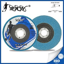 "4.5"" double layer flap discs abrasive sanding paperfor inox/metal/stainless steel T27"