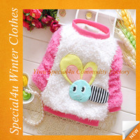 Pink cute baby wool sweater design for girl SPFW-0008