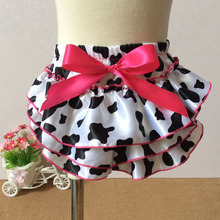 Baby Cow Print Bloomers Cow Print Baby Girl Diaper Cover Bloomers Cow Print Ruffled Baby Shorts